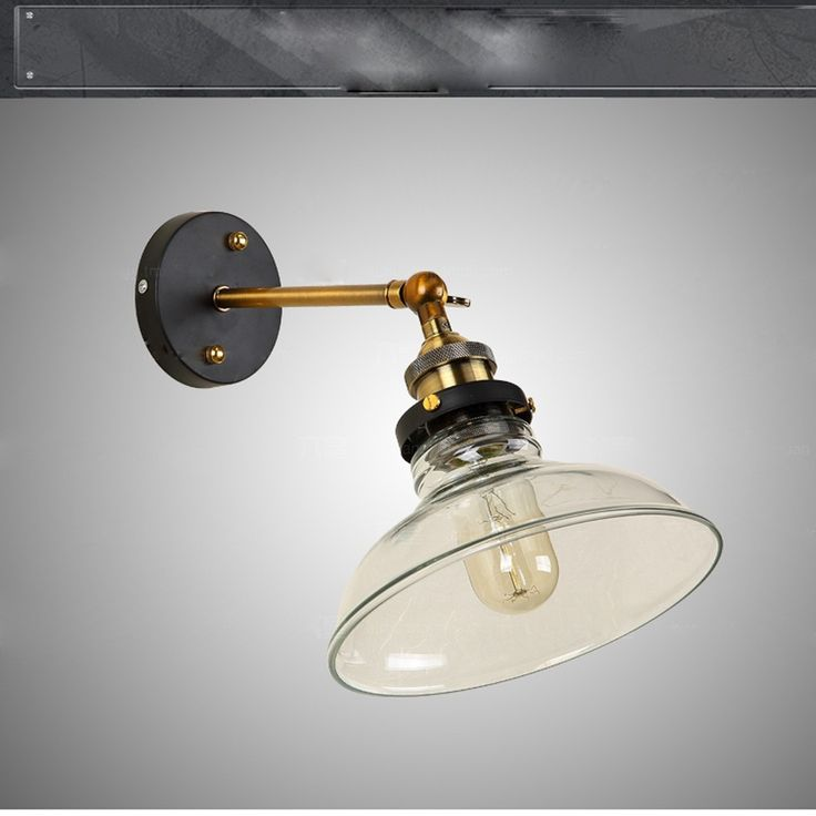 Lixada Vintage Glass Wall Sconces Rustic Country Wall Lamps Sales Online - Tomtop.com
