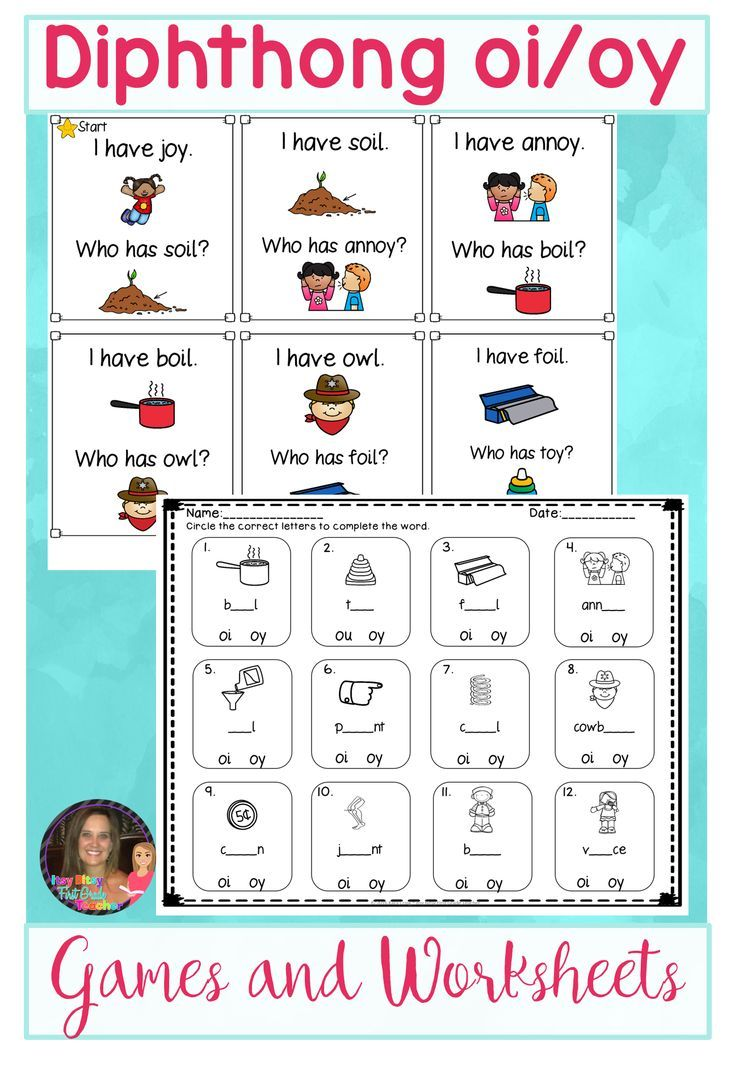 First And Second Graders Will Enjoy Reading And Writing Words With Diphthong Oi And Oy This Packet Is P Diphthongs Word Work Kindergarten Worksheets Printable Diphthongs ou ow oi oy worksheets