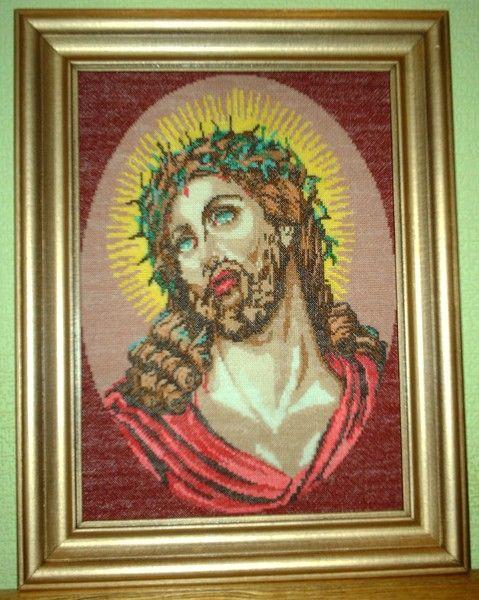 вышита крестиком - икона Терновый венец Иисуса