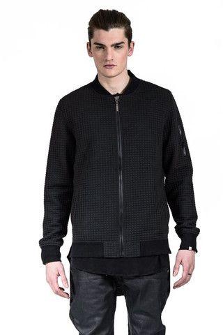 Kollar Men's Slacko Varsity Jacket in Black