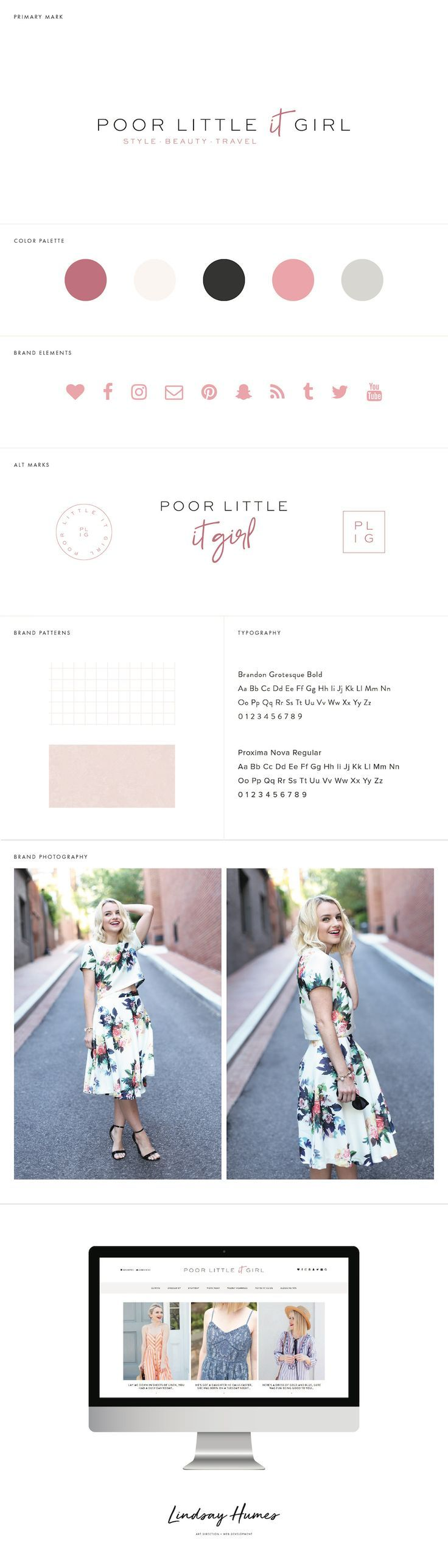Poor Little It Girl Blog Design by Lindsay Humes