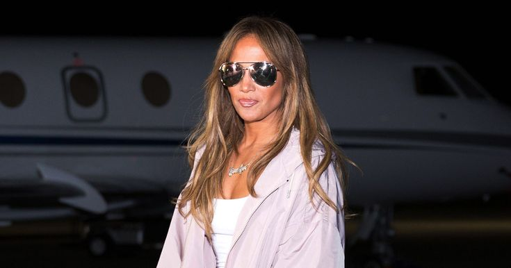 Jennifer Lopez's Private Jet Style Is a Steal in Naked Wardrobe