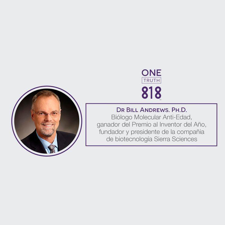 """¿Conoces al #Dr.Bill Andrews? Es el aclamado #biólogo que descubrió el poder de la #enzima """"#telomerasa"""" capaz de mantener las #células #humanas in #vitro. Descubre más sobre él en: www.onetruthserum.com/es"""