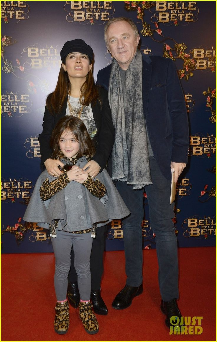 Salma Hayek and her husband Francois-Henri Pinault with their daughter Valentina.