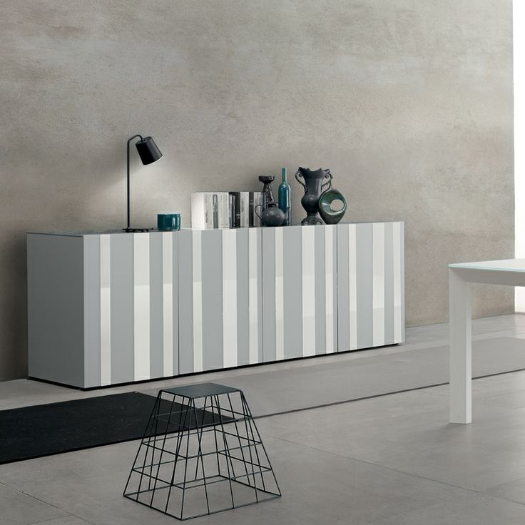 Flow sideboard in light grey and white