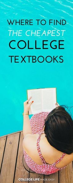 Where to Pay the Least Money for College Textbooks | Places to Get Cheap Textbooks | Buying & Selling College Textbooks Websites Online | via @esycollegelife