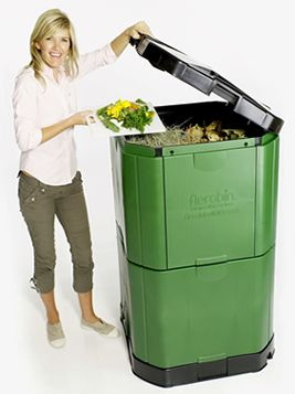Composters Aerobin- digest non compostable items like meat, bones, dairy, breads etc.