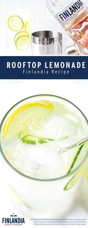What could be more refreshing than a combination of Finlandia Vodka, homemade lemonade, club soda, and a garnish of cucumbers? Nothing! That's why this recipe for a Rooftop Lemonade will top your list for the perfect cocktail! Using just a few ingredients, this thirst-quenching drink couldn't be easier to make.