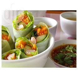 Rouleaux de printemps vietnamiens aux crevettes @ allrecipes.fr
