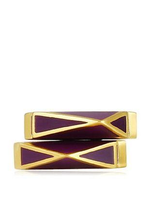 81% OFF Isharya Set of 2 Purple Pyramid Stackable Rings