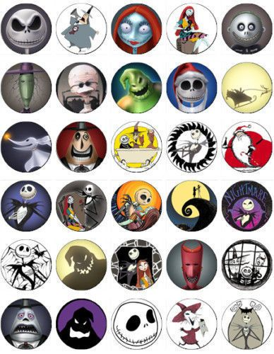 EDIBLE CAKE IMAGE-30  NIGHTMARE BEFORE CHRISTMAS CUPCAKE TOPPERS #Unbranded