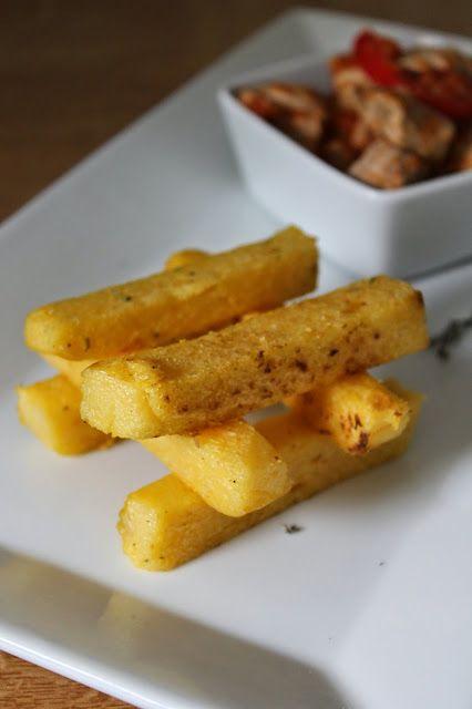 Une pipelette en cuisine: Frites de polenta