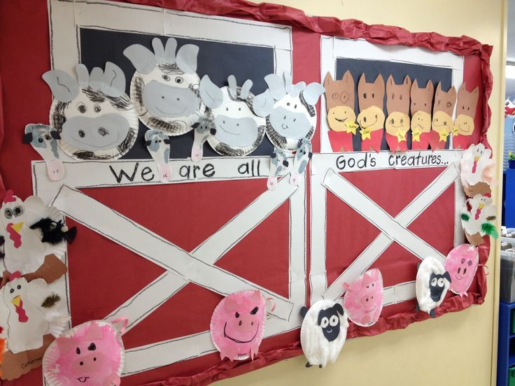 Farm animal Bulletin Board  |   Crafts and Worksheets for Preschool,Toddler and Kindergarten