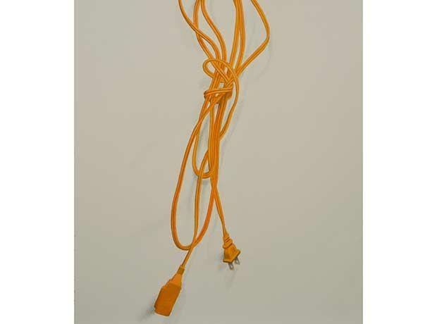 Cable naranja (Lápiz pastel y óleo sobre papel)