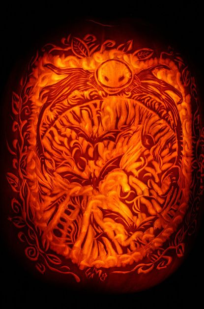 Best images about surface relief carved pumpkins on