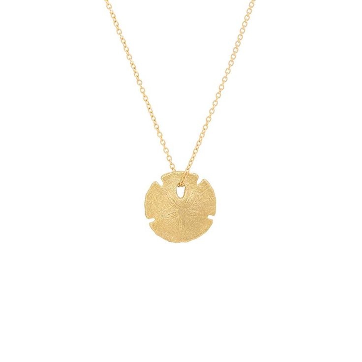 ICONERY | Sand Dollar Necklace | 14K Yellow Gold | Beach Style