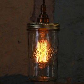 Jam Jar Pendant Light