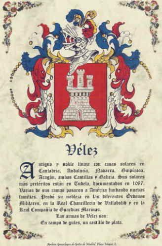 Heráldica Vélez