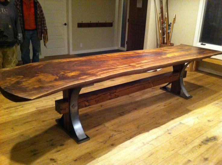 12 best live edge slab tables images on pinterest slab for Finishing live edge wood