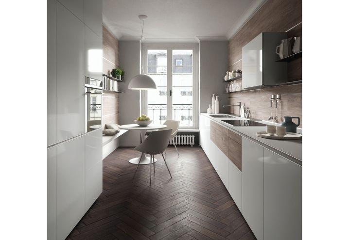 White and wood for this new kitchen by Valcucine / Legno e bianco per questa nuova cucina di Valcucine
