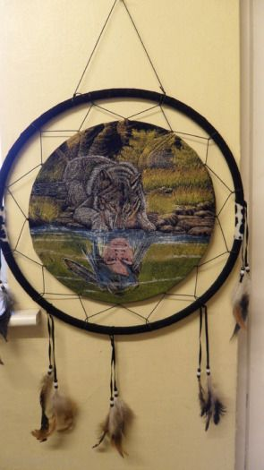 Large Wolf Dream Catchers   Large Wolf Image Dream Catcher For Sale in Naas, Kildare from ...