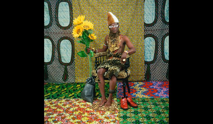 Samuel Fosso's self-portrait as an African chief.