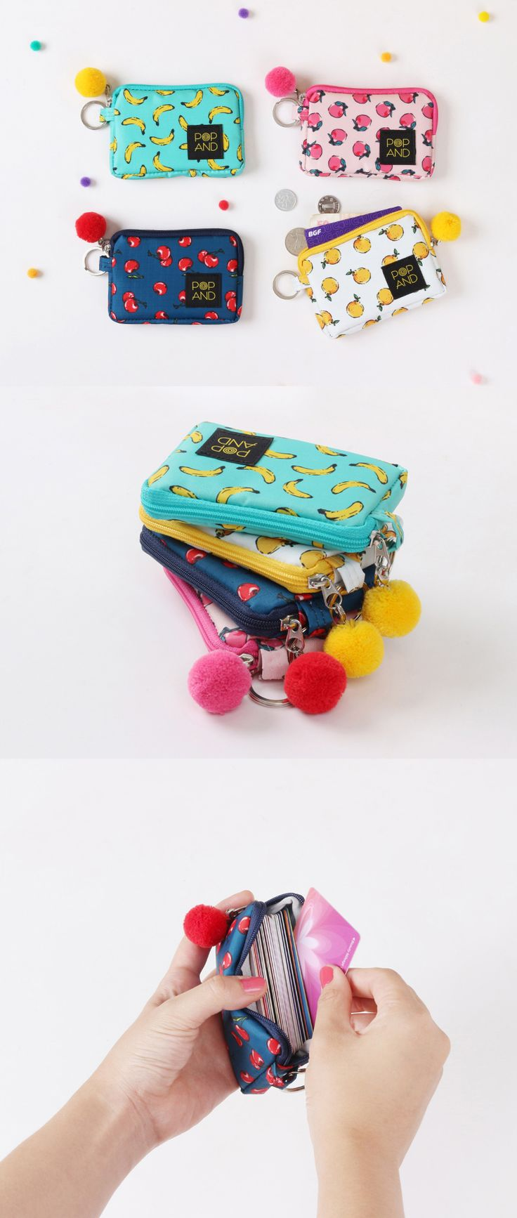 Are you like me, not wanting to carry excessive number of items but your cash and necessary cards? This pouch is perfect for us! Adorably designed pouch with vibrant cover, made to hold many of your cards and cash!!