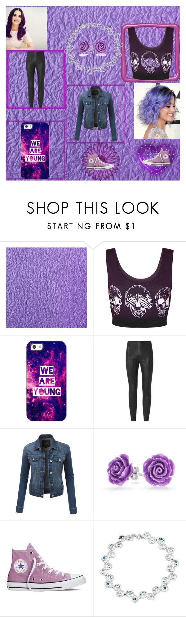 """Purple"" by abby155367 ❤ liked on Polyvore featuring WearAll, Casetify, LE3NO, Bling Jewelry and Converse"