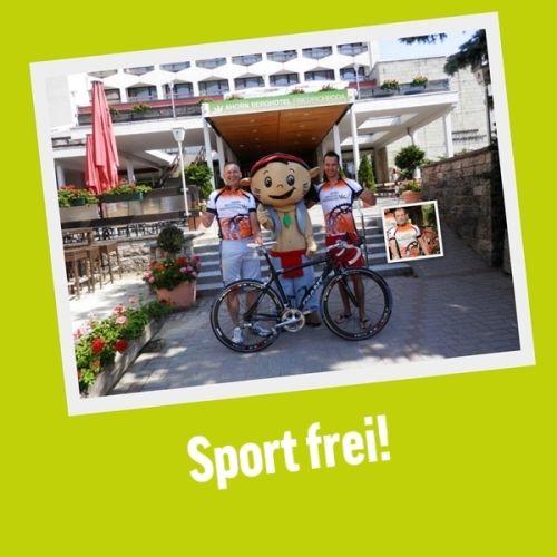 Triathlon in Friedrichroda. Auch unser AHORN Berghotel Friedrichroda tritt an. YOKI AHORN drückt die Daumen