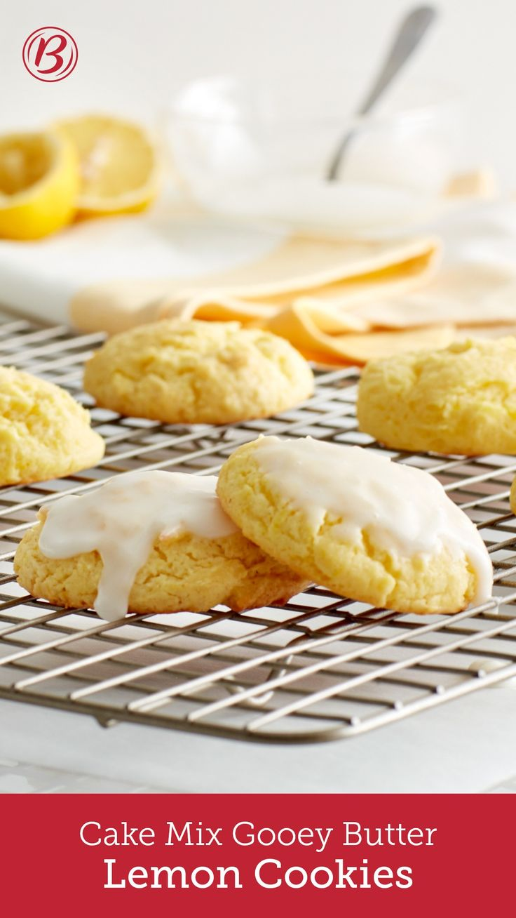 Lemony, soft cookies topped with a sweet citrus glaze using a genius shortcut — cake mix!