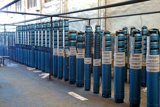 Preparation of deep well submersible pump before installation