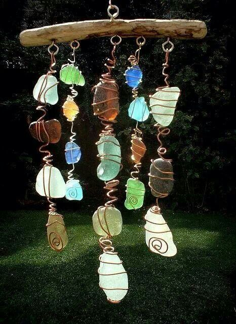 Wire wrapped stones. Gloucestershire Resource Centre http://www.grcltd.org/scrapstore/                                                                                                                                                      More                                                                                                                                                                                 More