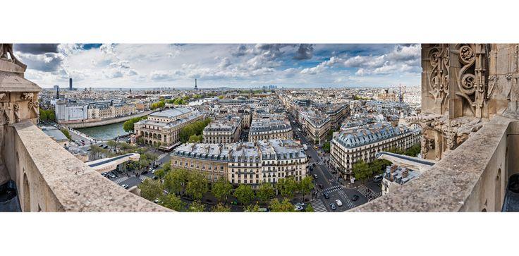 Site Photo Arnaud Frich : Vue panoramique de Paris - Vue vers l'ouest et la Tour Eiffel