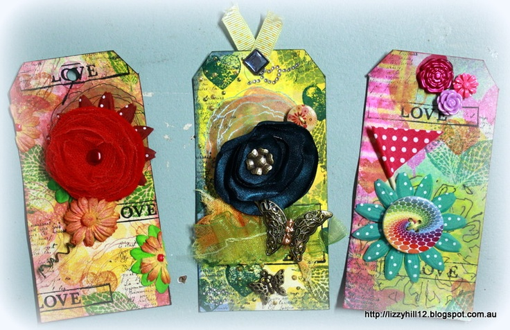 LIZZY HILL ~ some tags I really enjoyed creating:)