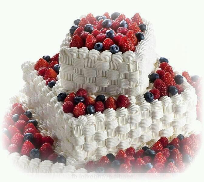 Easy fruit basket cake recipe