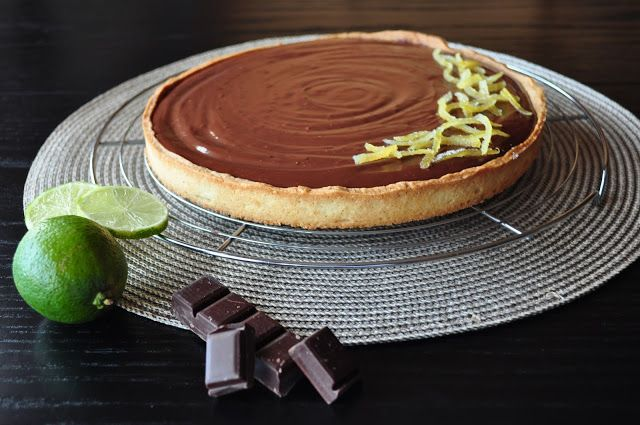 Les Chtis Gâteaux d'Hervé: Tarte au chocolat-citron vert