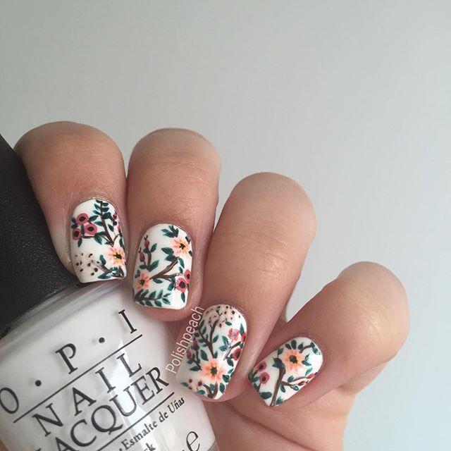 25+ Best Ideas About Floral Nail Art On Pinterest