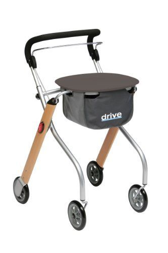 Drive Medical Let's Go Indoor Lightweight Mobility Walker Rollator, Beech Wood by Drive Medical. $138.47. Height adjustable handles. Full length brake handle is suitable for one hand operation. New modern look with three attractive finishes to choose from. Comes with carry pouch and tray. Easily folds for convenient storage. The let's go lightweight mobility aluminum walker rollator by Drive Medical in beech veneer is ideal for indoor use due to its narrow width and...