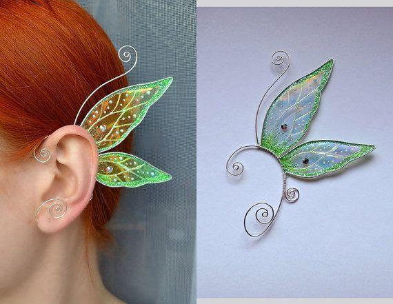 Butterfly ear cuffs, earrings wings, earrings butterfly wings, jewellery, transparent wings earrings, magical jewelry, fairy wings earrings