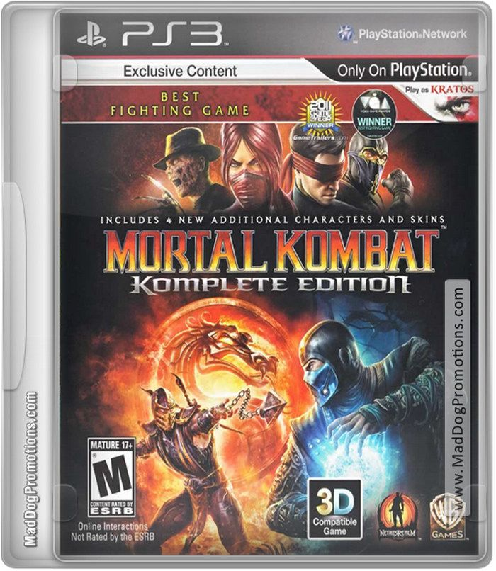 PlayStation 3 - PS3  games for sale - Mortal Kombat on MadDogPromotion.com