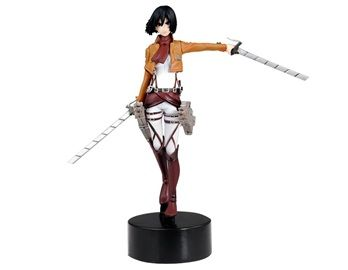 Anime PVC Attack on Titan Mikasa Ackerman Action Figure This Mikasa Ackerman figure looks very much like the real character in the anime Attack on Titan. It is a perfect decorative piece and collectors item.