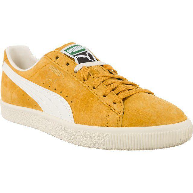 Sportowe Meskie Puma Zolte Clyde Premium Core 203 Puma Puma Puma Sneaker Sneakers