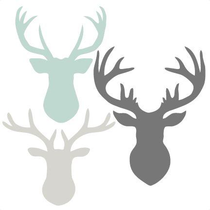 Deer Head Set SVG scrapbook cut file cute clipart files for silhouette cricut pazzles free svgs free svg cuts cute cut files