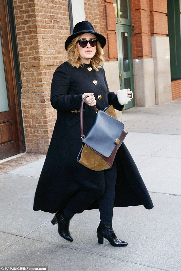 Another busy day: Adele has had a jam-packed schedule while in New York, appearing on major shows like Saturday Night Live and Jimmy Fallon as well as performing a sold-out gig at Radio City Music Hall