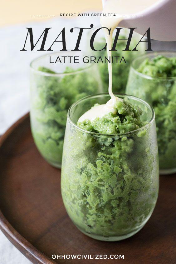 Matcha (Green Tea) Latte Granita Recipe