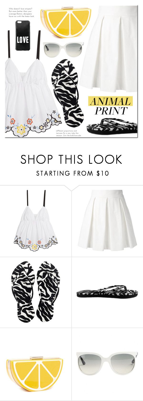 CHOSECHIC by mada-malureanu on Polyvore featuring See by Chloé, Boutique Moschino, Ray-Ban, Givenchy, FlipFlops and chosechic