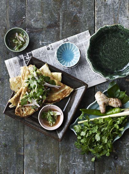 Asian style omelet - recipe in Danish, use the google translator