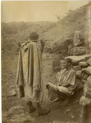 Algérie, Kabyle Vintage albumen print, Alger Tirage albuminé 9x12 Circa