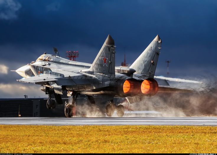 All-weather fighter MiG-31 (named Viktor Prudnikov) is taking off against the all types of weather: windy, wet and sometimes sunny. And finally we've got outstanding result!! - Photo taken at Withheld in Russia in October, 2017.