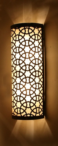 Big Half Cylinder Ottoman Laser Cut Brass Wall (Ceiling) Lamp - mediterranean - wall sconces - other metro - by Hedef Aydınlatma